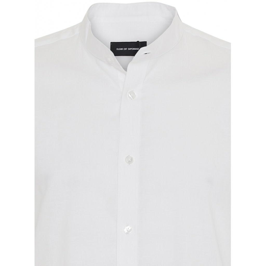 Clean Cut Clean Cut Mao L/S Shirt White