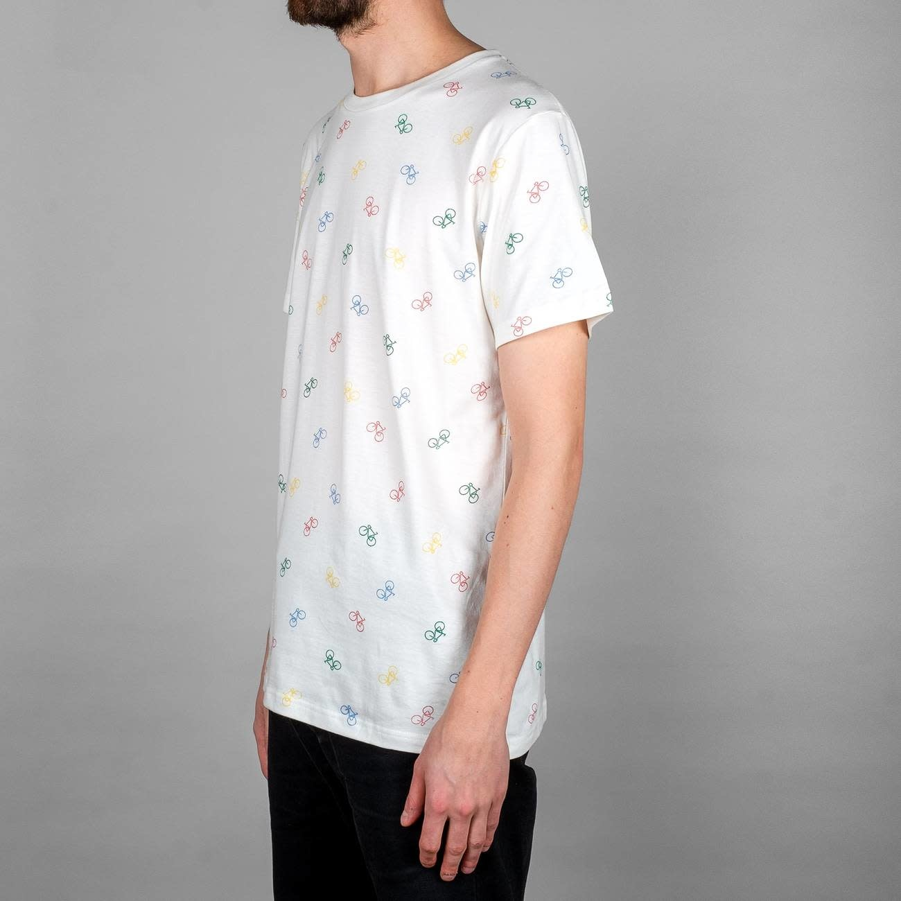 Dedicated Dedicated Stockholm Bike Pattern Tee Off White