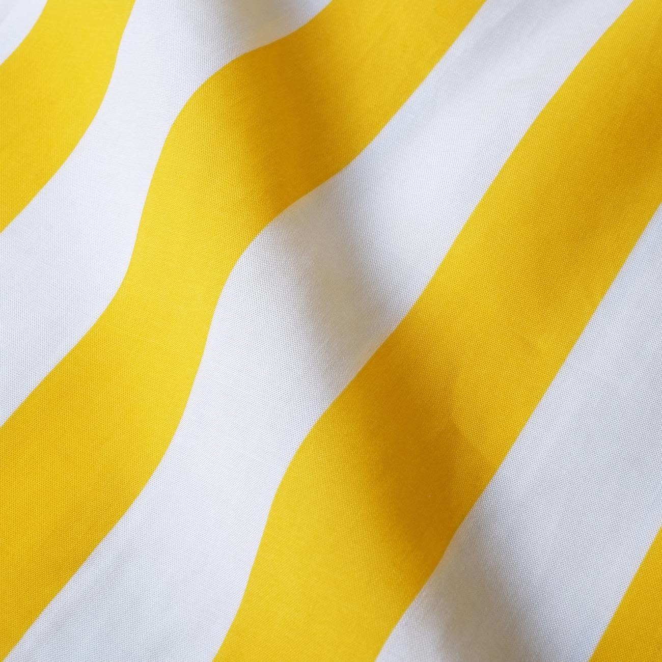 Dedicated Dedicated Marstrand Big Stripes S/S Shirt Yellow