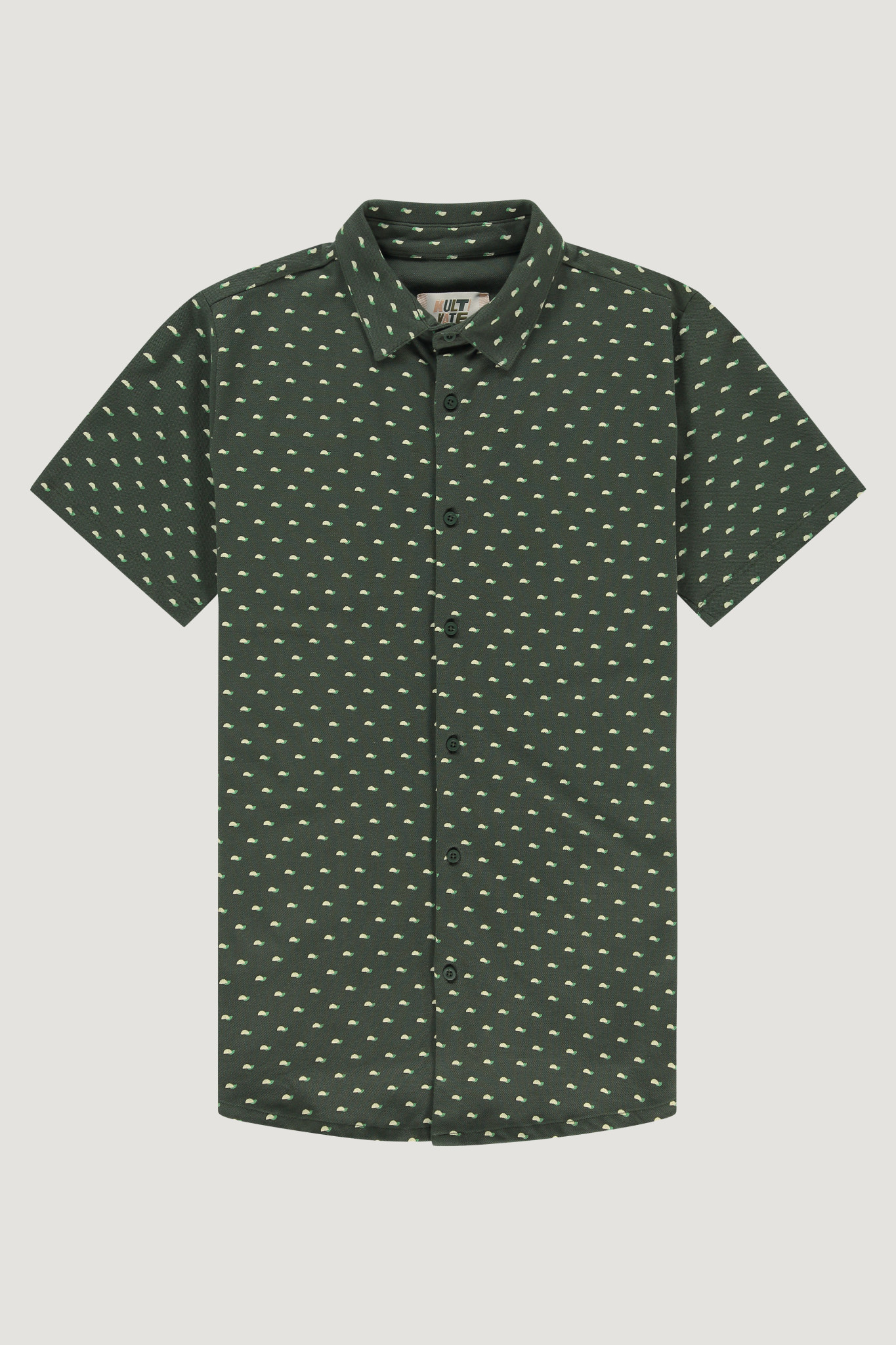 Kultivate Kultivate Hemicycle Shirt Deep Forrest Green