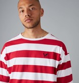 Distorted People Distorted People Classic Oversized Stripe Tee 2765 Red/White