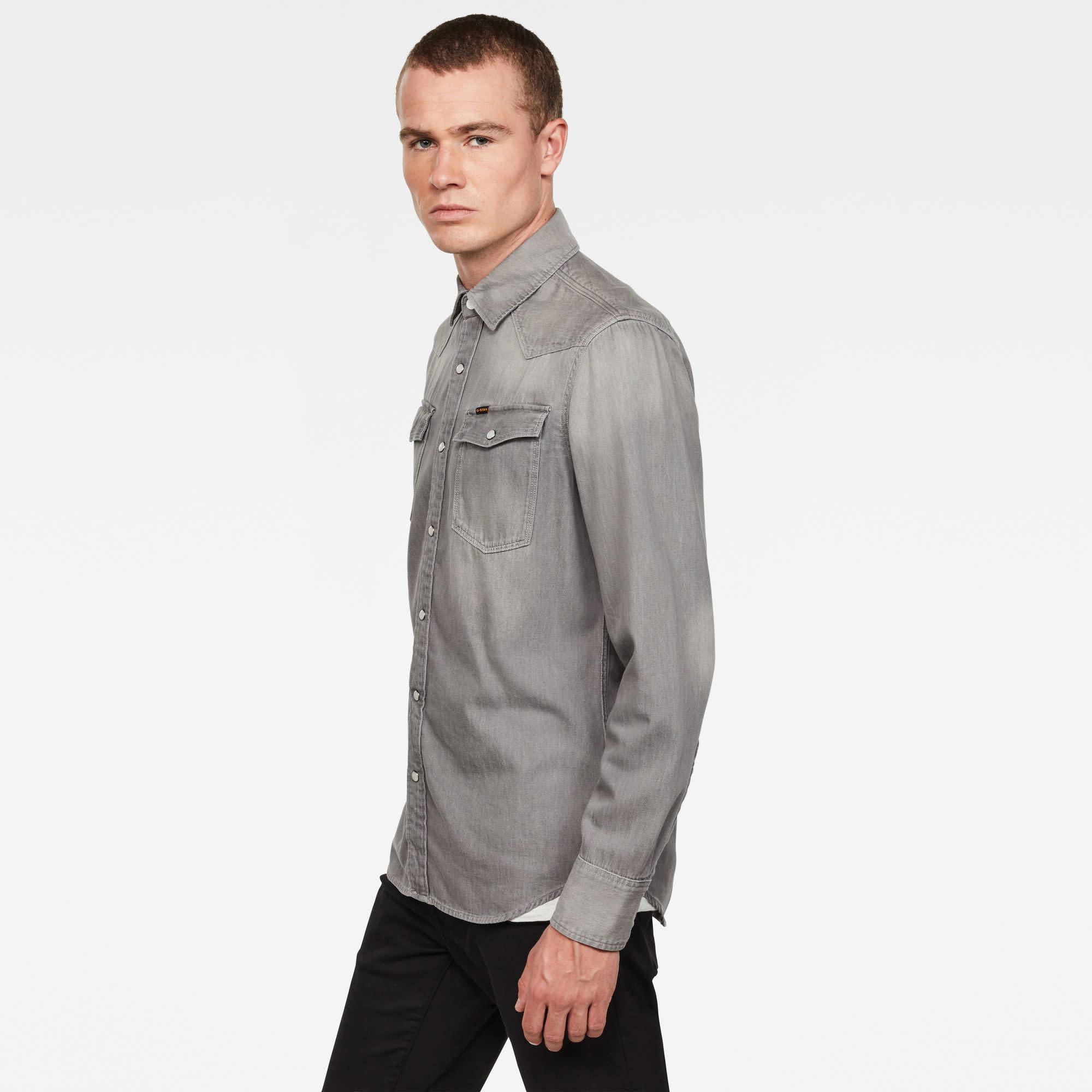 G-Star G-star 3301 Denim Slim Shirt B497-B793 Faded Dust Grey