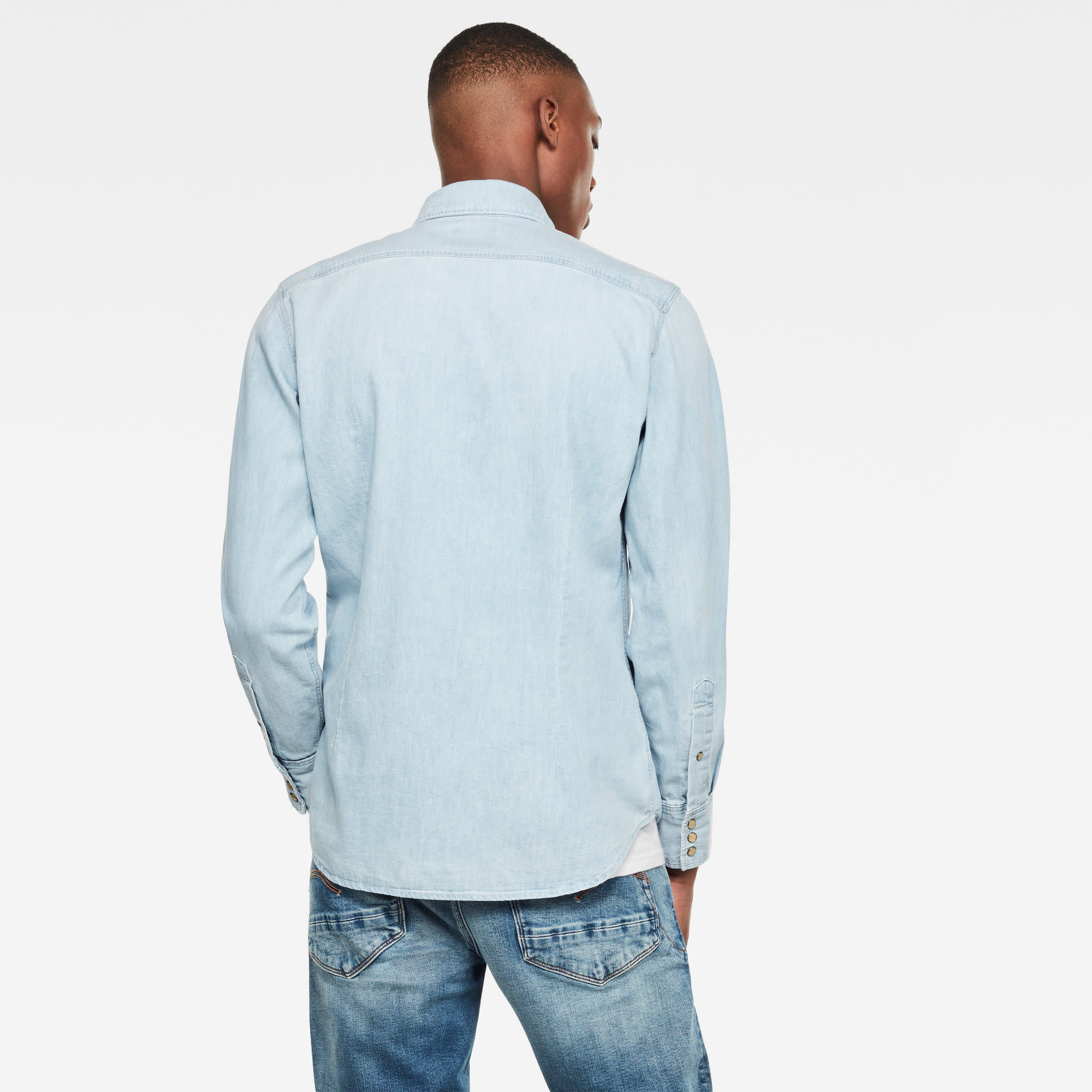 G-Star G-star 3301 Denim Slim Shirt D013-424 Light Aged