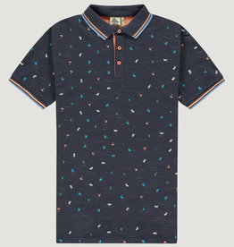 Kultivate Kultivate Beach Essentials Polo Graphite Grey