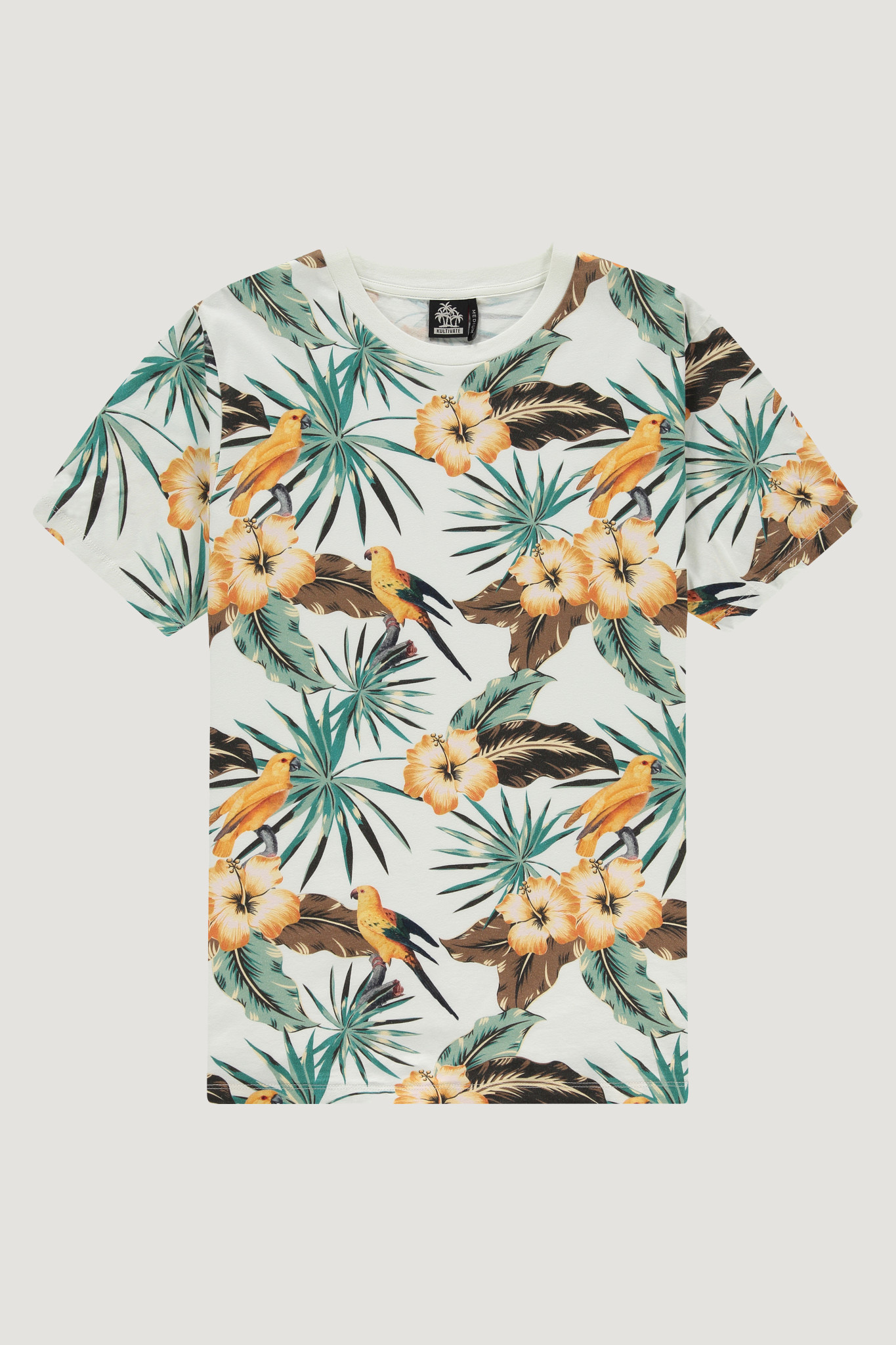Kultivate Kultivate Hidden Bird Tee Ecru