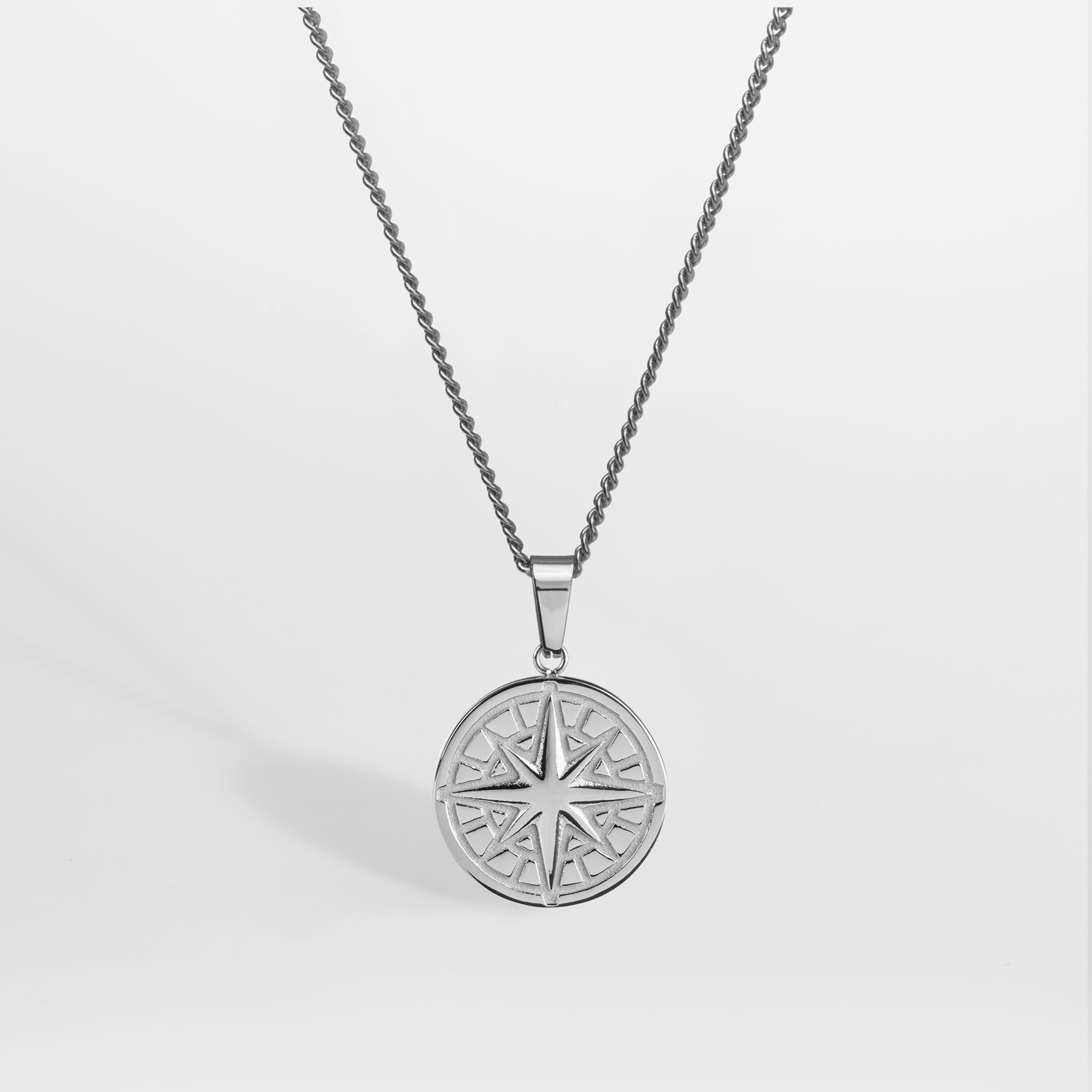 Northern Legacy Northern Legacy Compass Pendant 2.0 Necklace Silver
