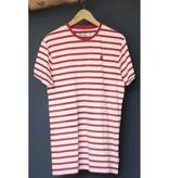 Kronstadt Kronstadt Navey Recycled Cotton Tee Red/White