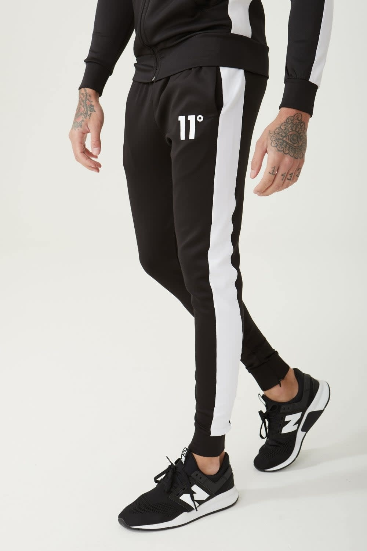 11 Degrees 11 Degrees Core Poly Panel Track Pants Black/White