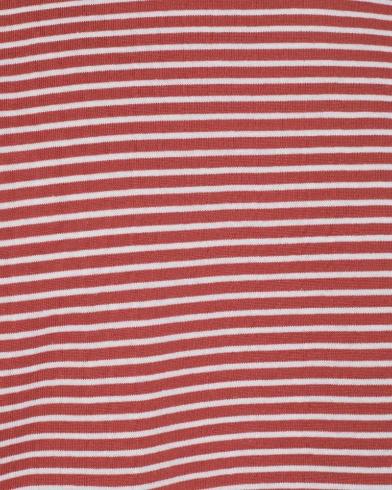 Minimum Minimum Luka Stripe Tee 3254 Red Ochre