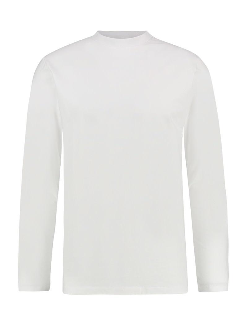 Purewhite Pure White 19030114 L/S Mock Neck Tee White
