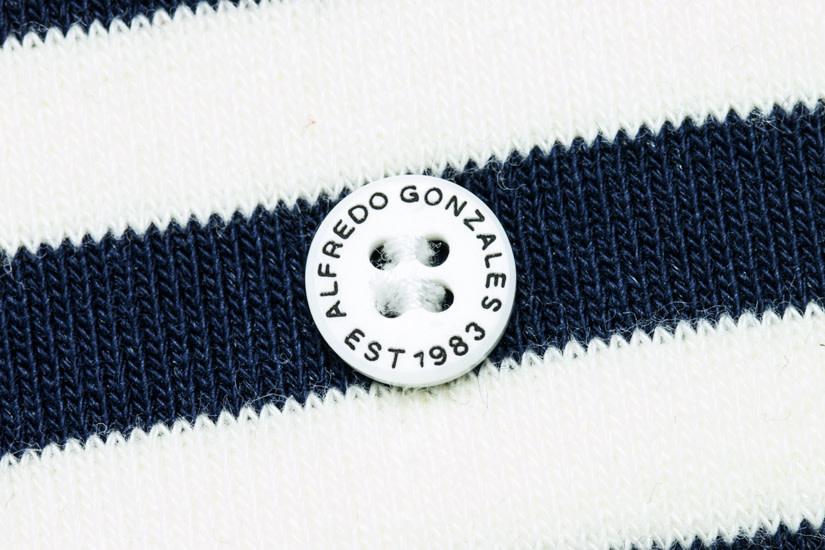 Alfredo Gonzalez Alfredo Gonzales Harbour Stripes Socks Navy/White