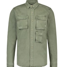 Pure White Pure White 20030210 Denim Shirt Army Green