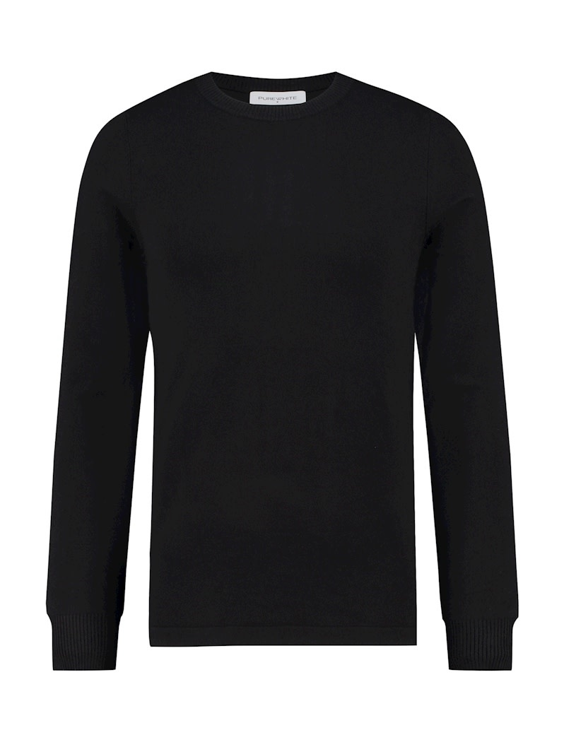 Purewhite Pure White Essential Crewneck Knit Black