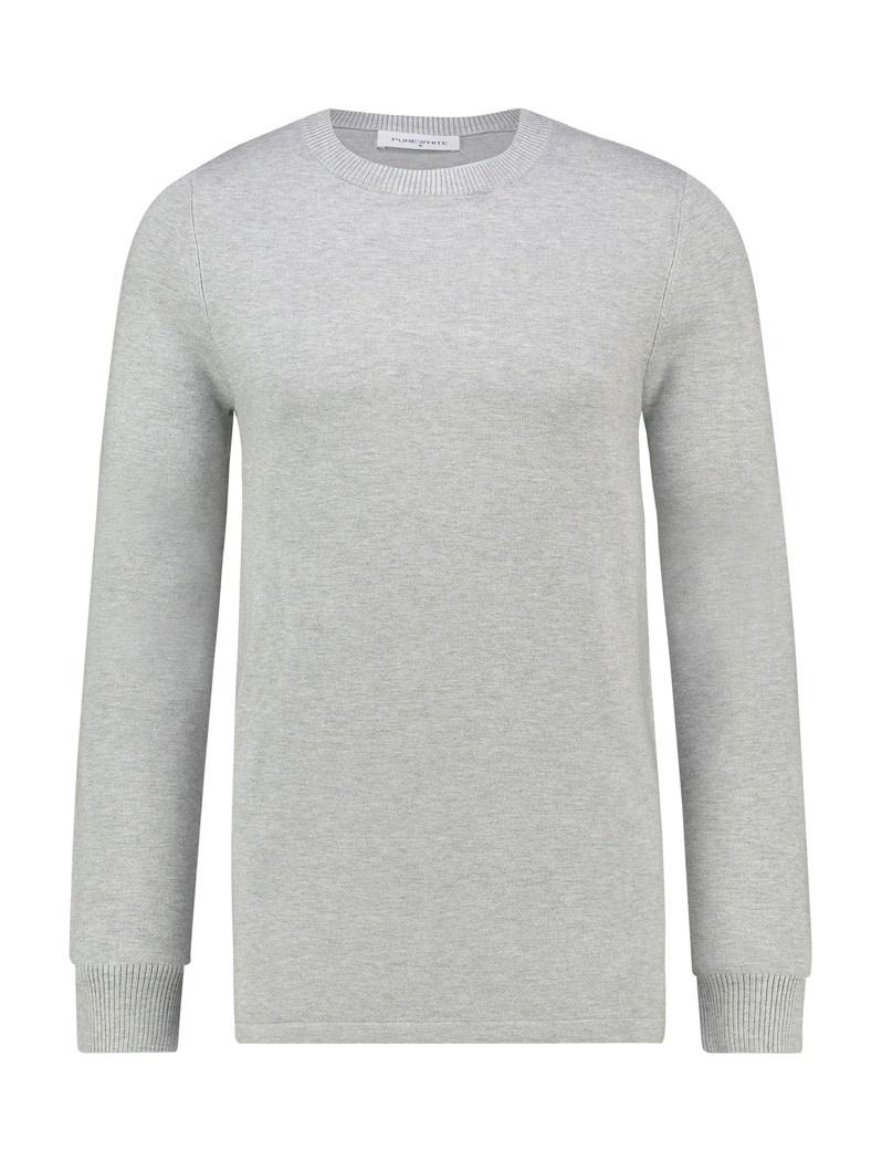 Purewhite Pure White Essential Crewneck Knit Grey