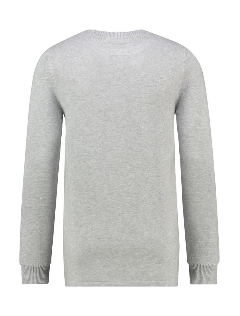 Pure White Pure White Essential Crewneck Knit Grey