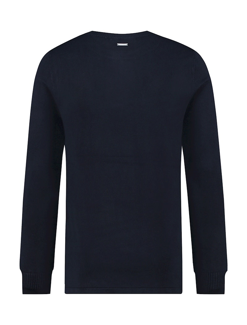 Pure White Pure White Essential Crewneck Knit Navy