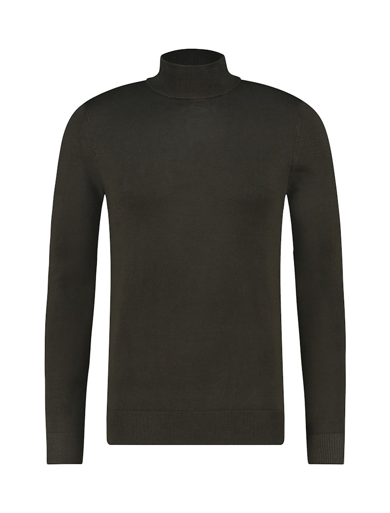 Pure White Pure White Essential Mockneck Knit Army Green