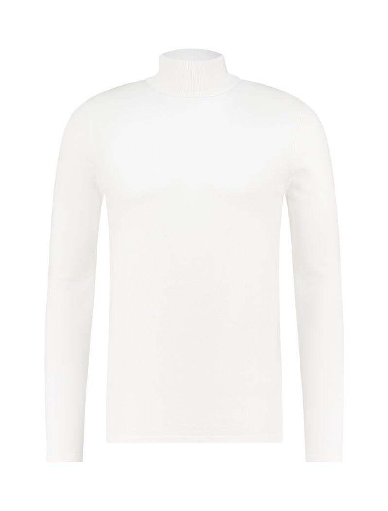Pure White Pure White Essential Turtleneck Knit Off White