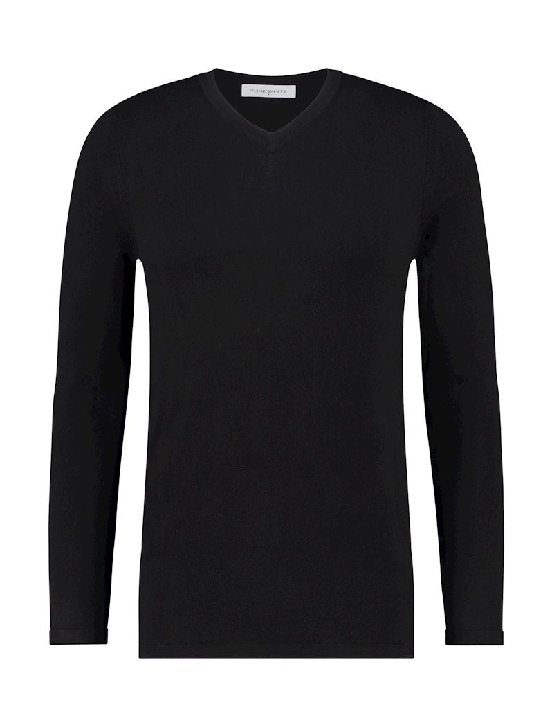 Pure White Pure White Essential V-Neck Knit Black