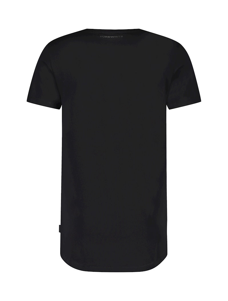 Purewhite Pure White Essential Tee U-Neck  Black