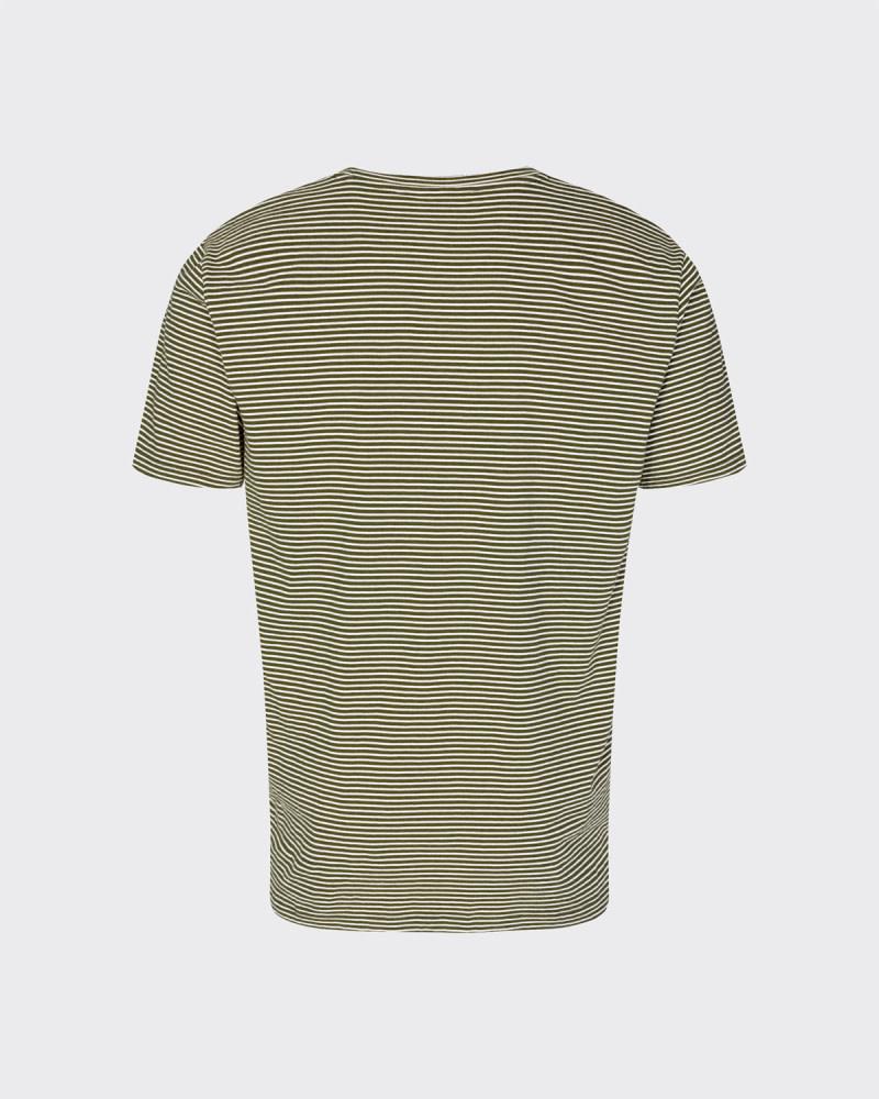 Minimum Minimum Luka Tee 3254 Stripe Fir Green