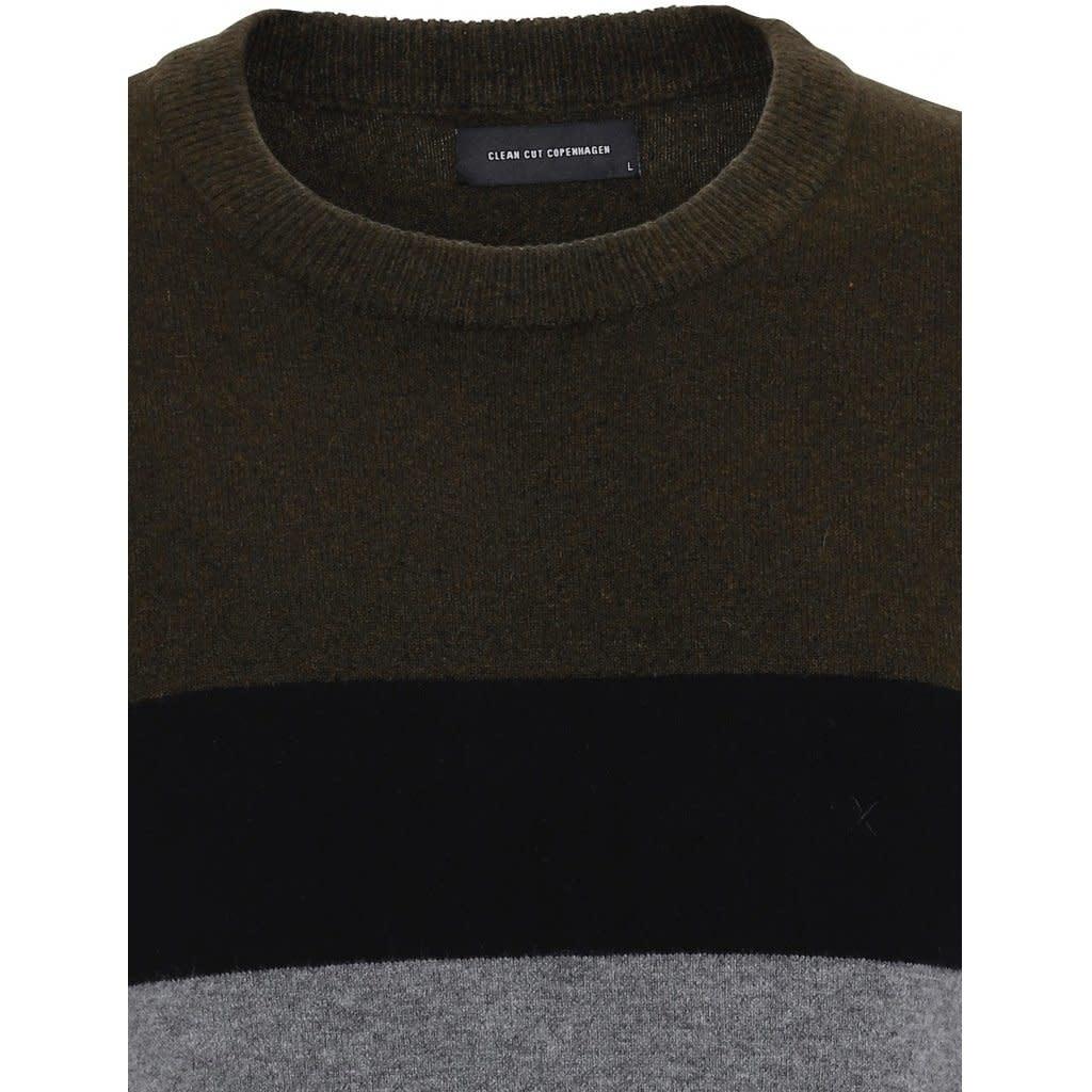 Clean Cut Clean Cut Toby Stripe Stretch Knit Army/Black/Grey