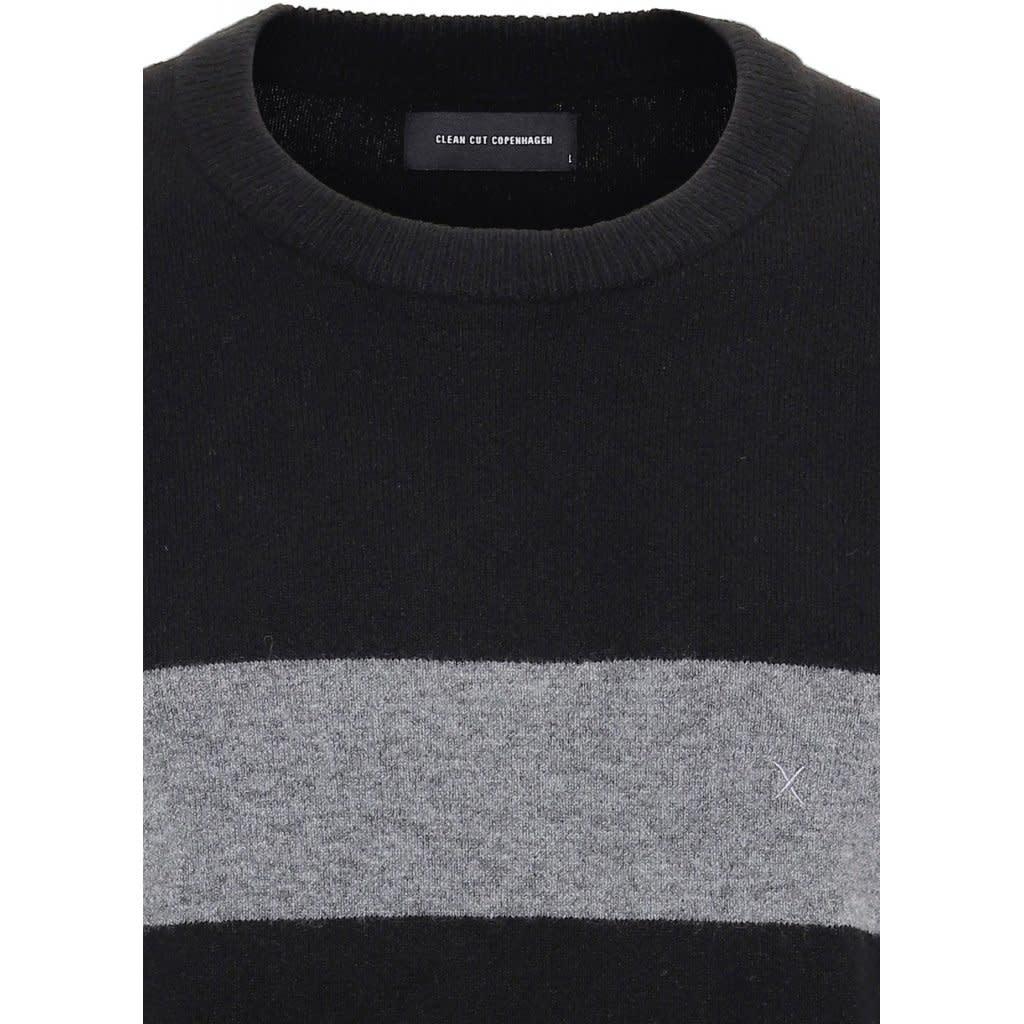 Clean Cut Clean Cut Toby Stripe Stretch Knit Black/Grey