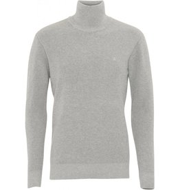 Clean Cut Clean Cut Justin Organic Turtle Neck Knit Light Grey Melee