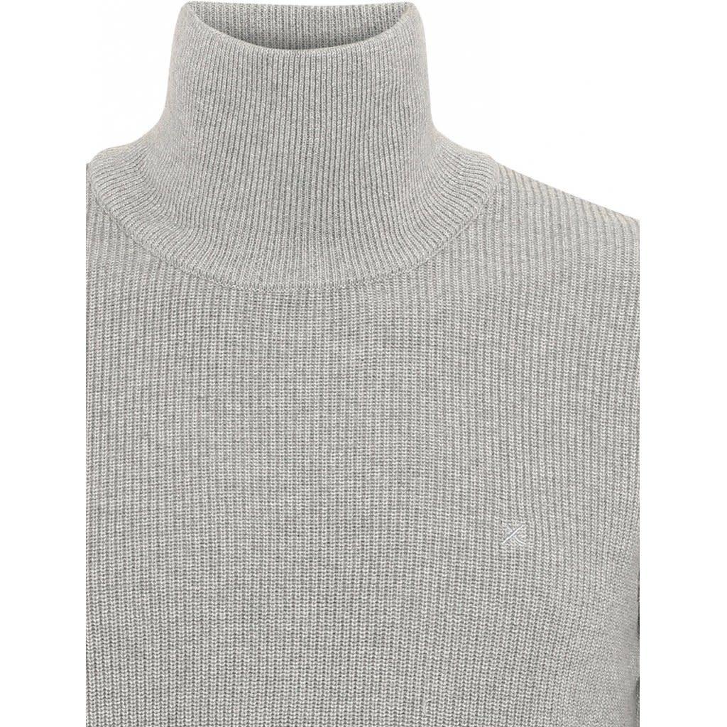 Clean Cut Clean Cut Justin Organic Turtle Neck Knit Light Grey Melee