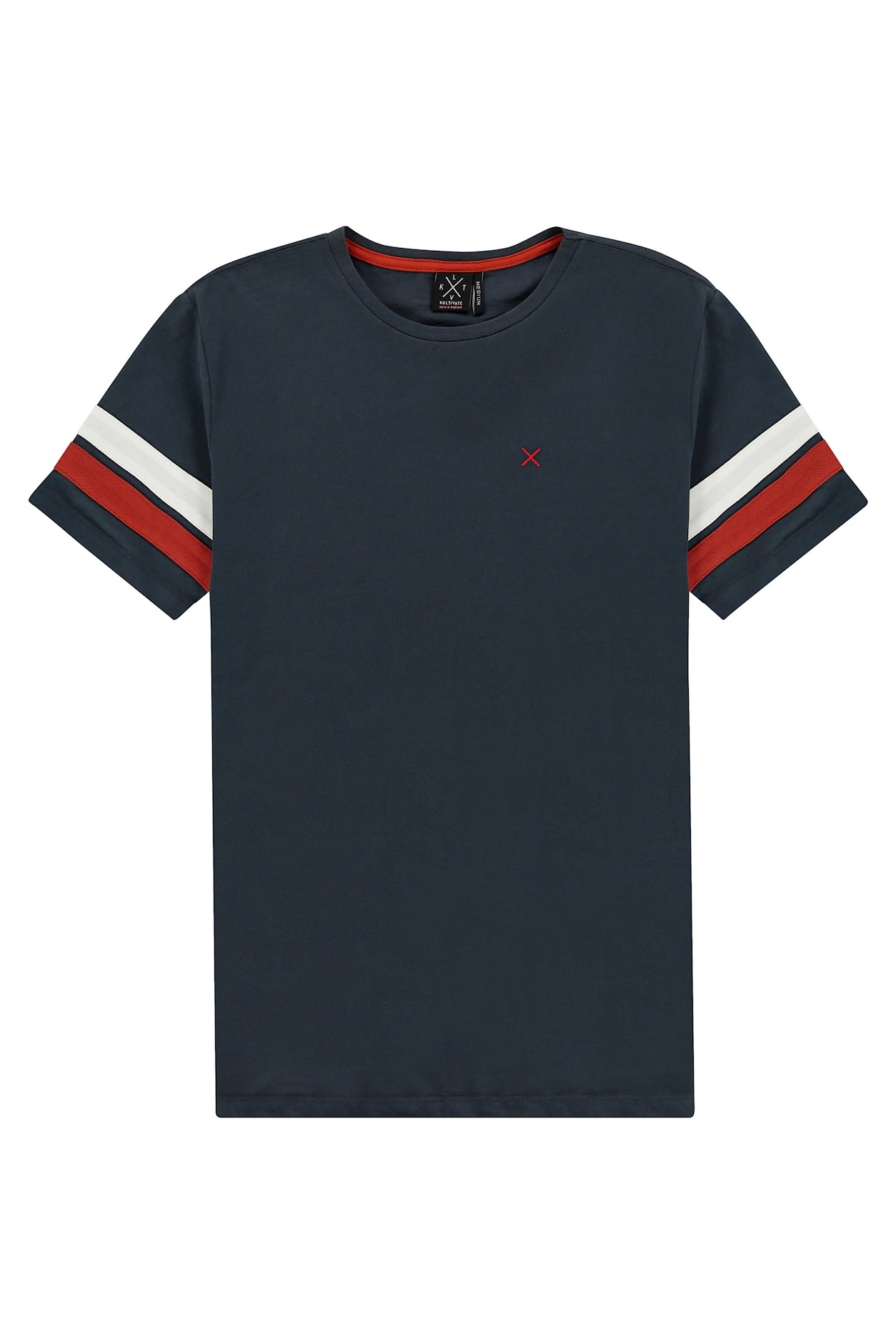 Kultivate Kultivate Mixed Tee India Ink Grey