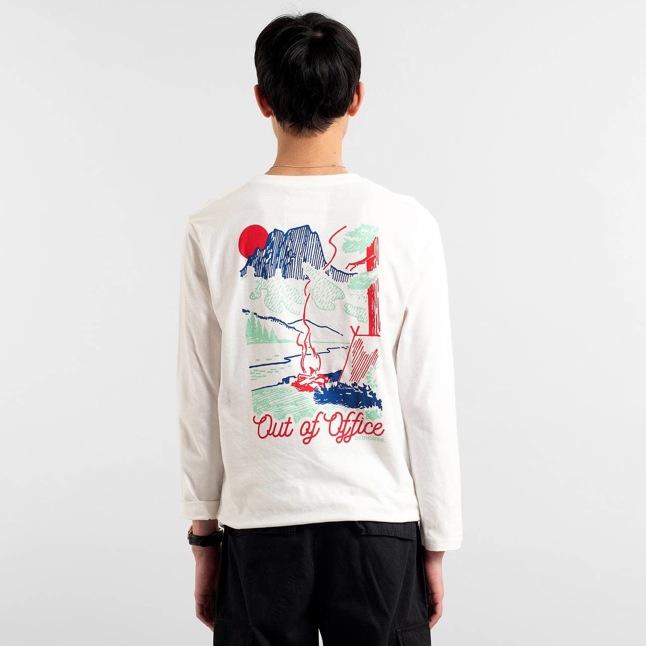 Dedicated Dedicated Hasle Camp Out Long Sleeve Tee Off White