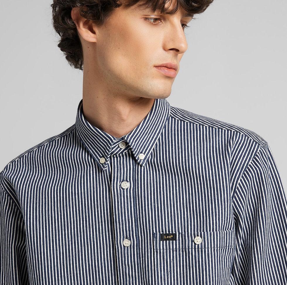 Lee Lee Riveted Shirt Washed Blue