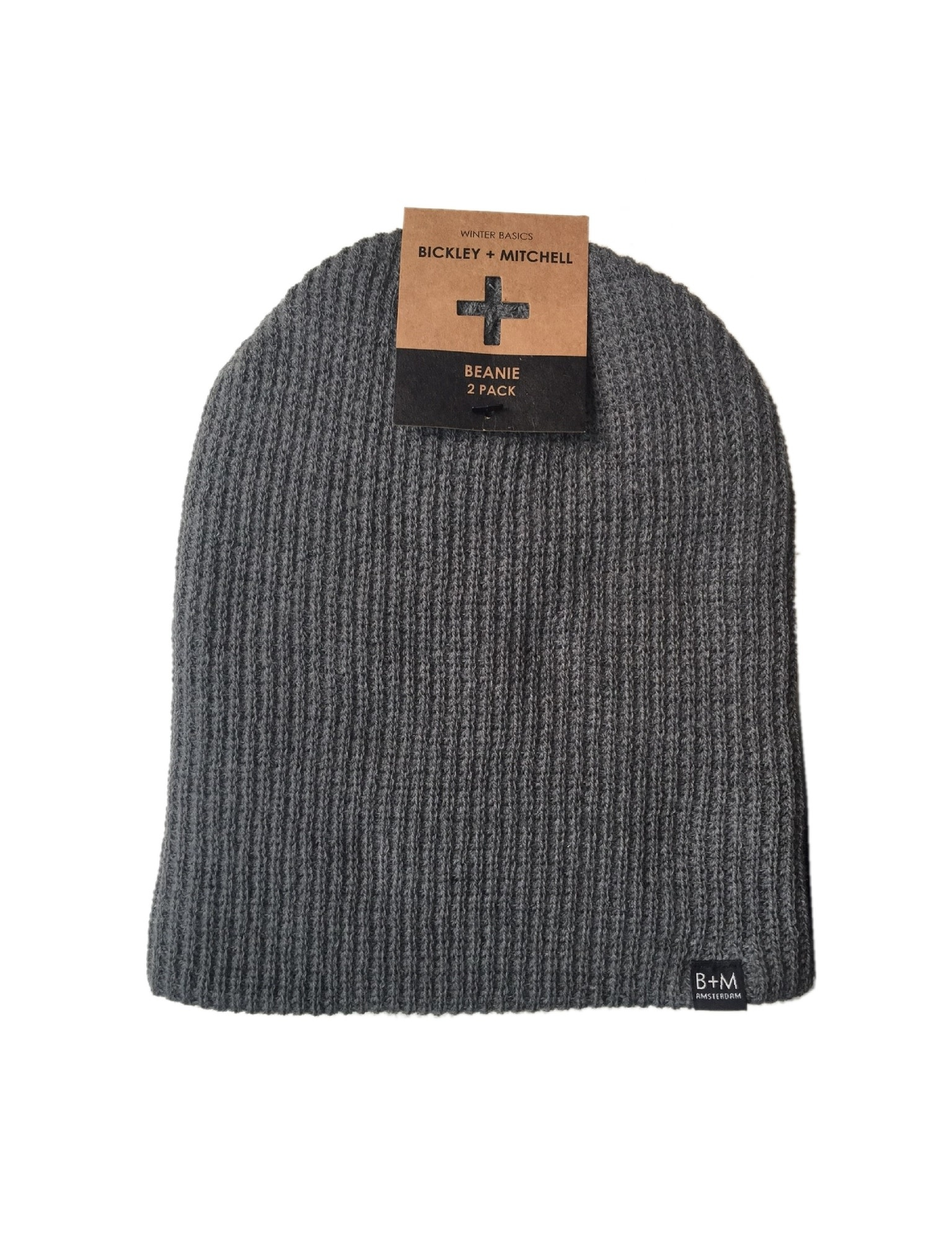 Bickley & Mitchell Bickley & Mitchell Beanie 2-Pack 71031-11 Black and Grey