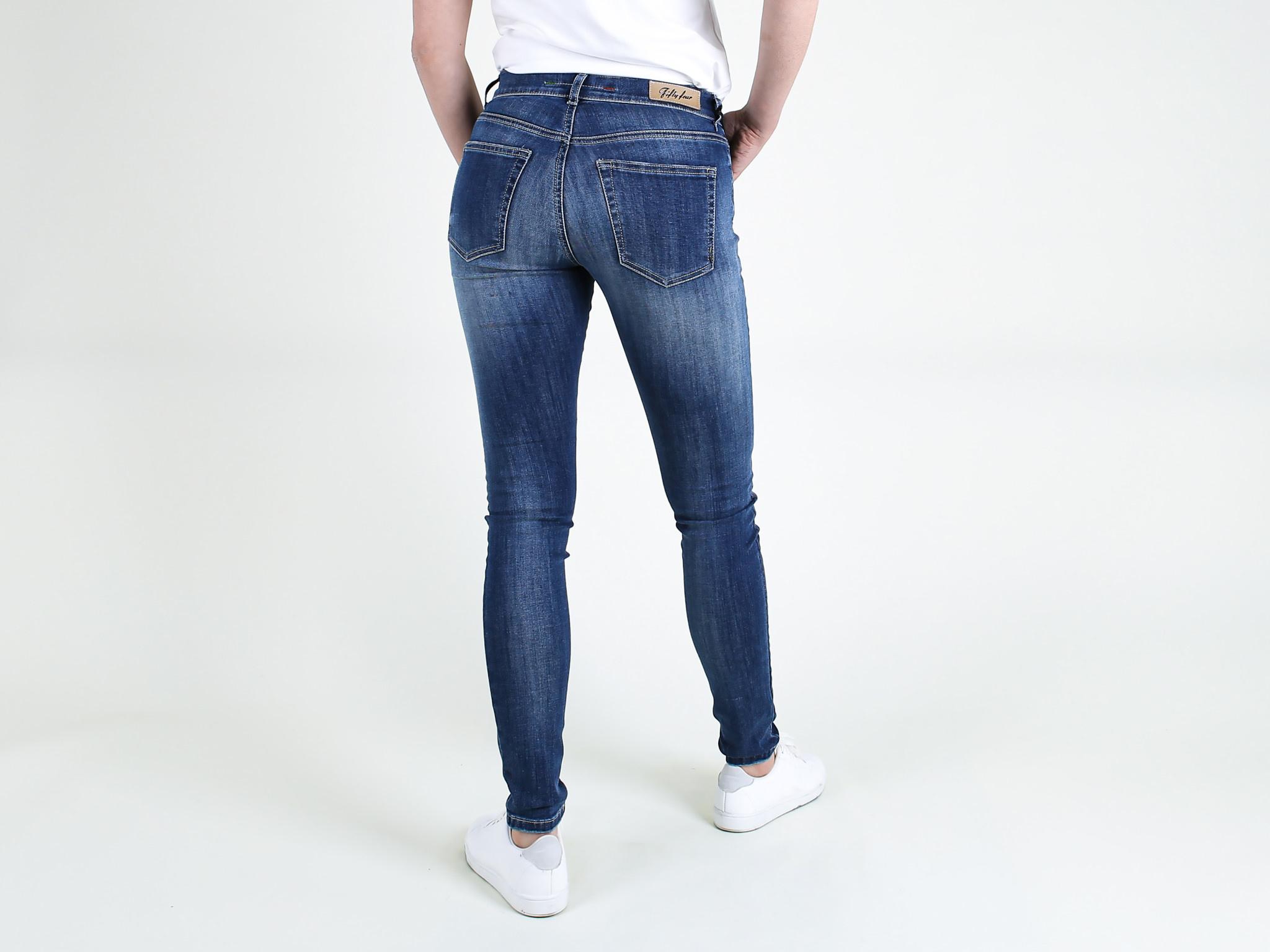 Fifty Four Fifty Four Sixty JD81 T-108-MARL Skinny Jeans Stone Wahed Blue