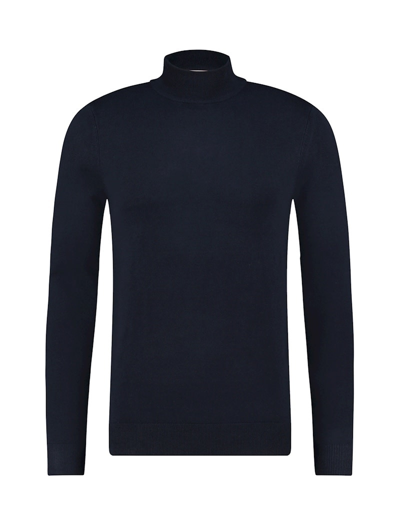 Pure White Pure White Essential Mockneck Knit Navy