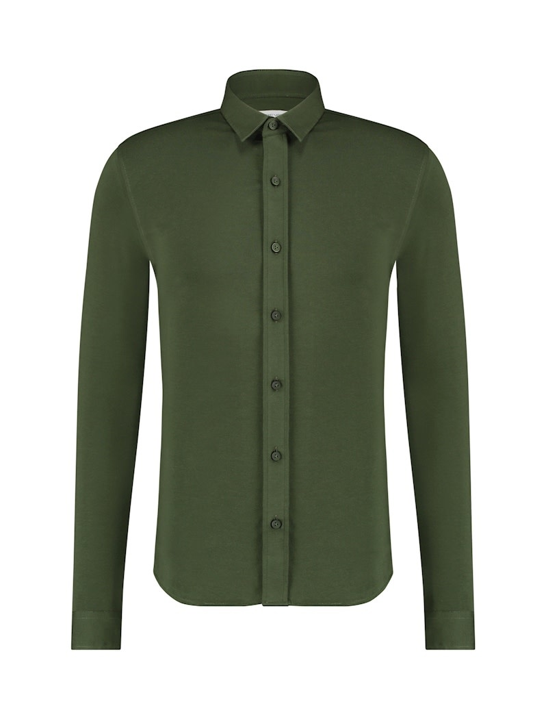 Purewhite Pure White Essential Jersey Shirt Army Green