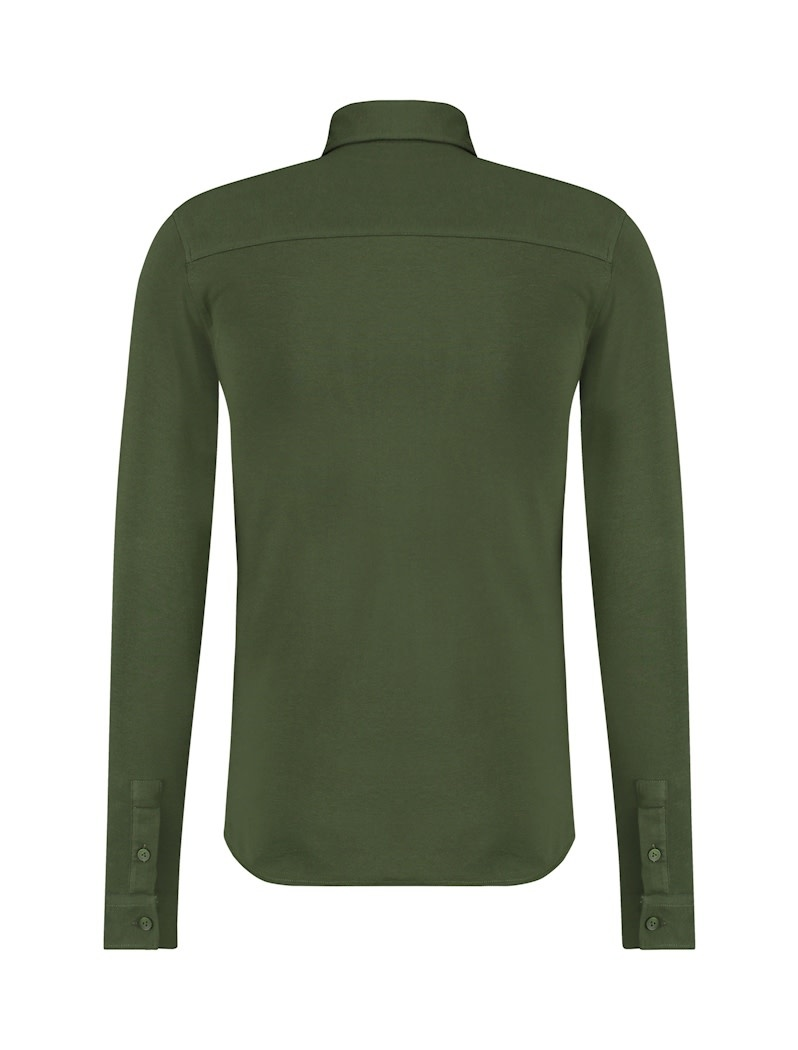 Pure White Pure White Essential Jersey Shirt Army Green