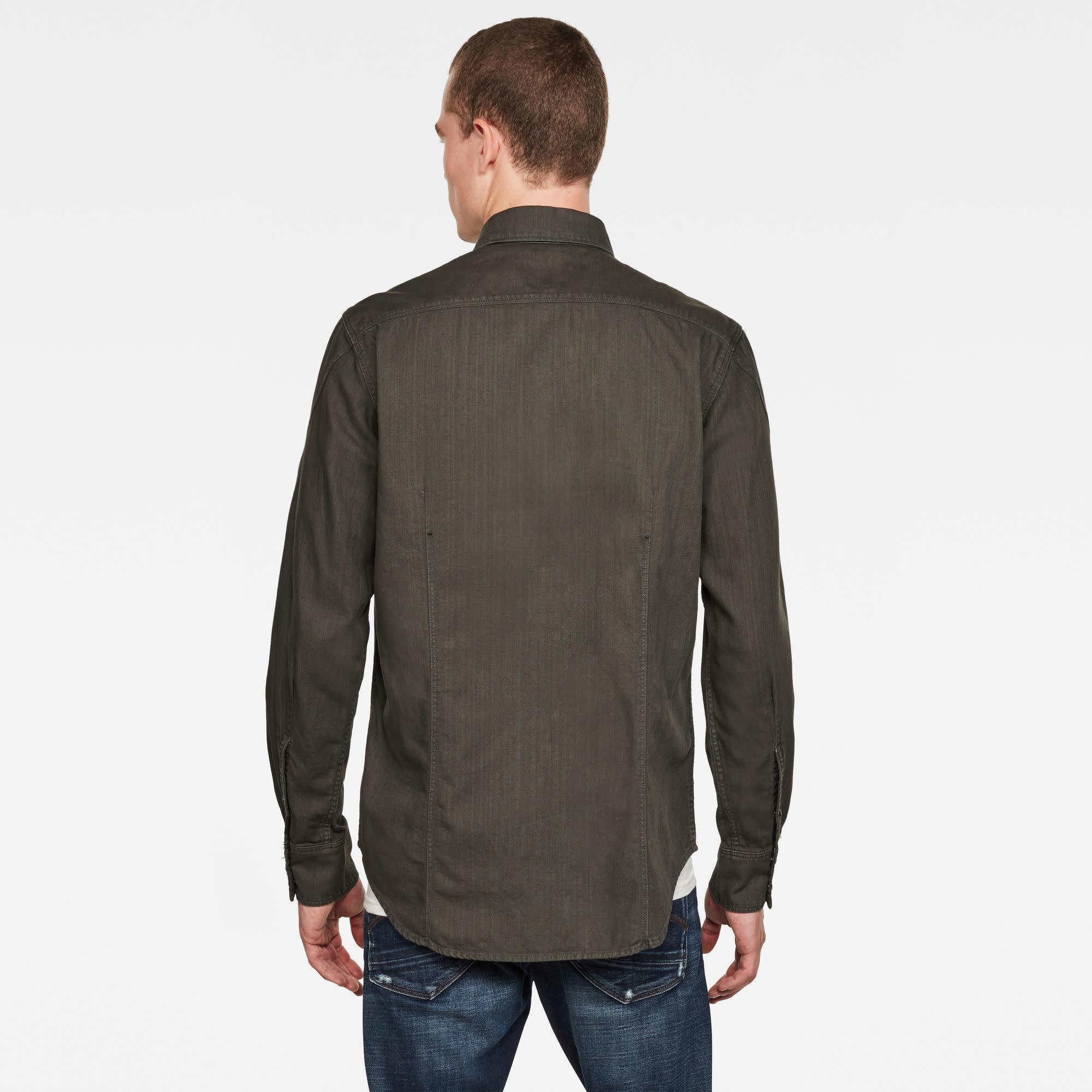 G-Star G-Star Arc 3D Slim L/S Shirt 7647-B575 Asfalt Green