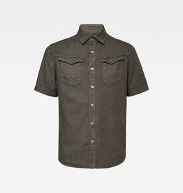 G-Star G-Star Arc 3D Slim S/S Shirt 7647-995 Asfalt Green