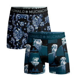 Muchachomalo Muchachomalo 2-Pack Boxershorts Climate Change Multicolor