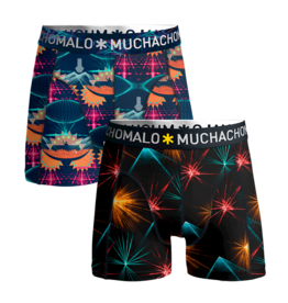 Muchachomalo Muchachomalo 2-Pack Boxershorts EDM music Multicolor