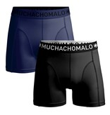 Muchachomalo Muchachomalo 2-Pack Boxershorts Microfiber Black/Navy