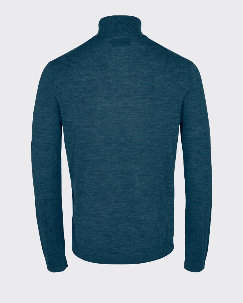 Minimum Minimum Lashon 0108 Coll Knit Reflecting Pond Blue