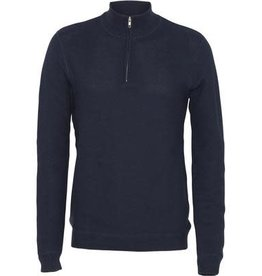 Clean Cut Clean Cut Lauritz Recycled 1/2 Zip Knit Navy
