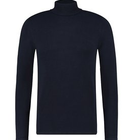 Pure White Pure White Essential Turtleneck Knit Navy
