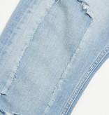 Gabba Denim Gabba Alex K2614 Leo Cropped Jeans Damaged Bleached Blue