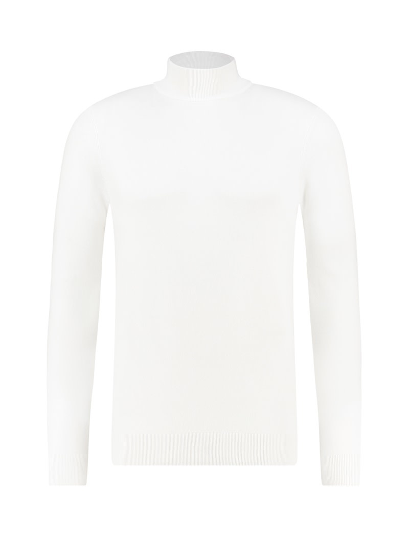 Pure White Pure White Essential Mockneck Knit Off White