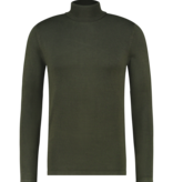 Pure White Pure White Essential Turtleneck Knit Army Green