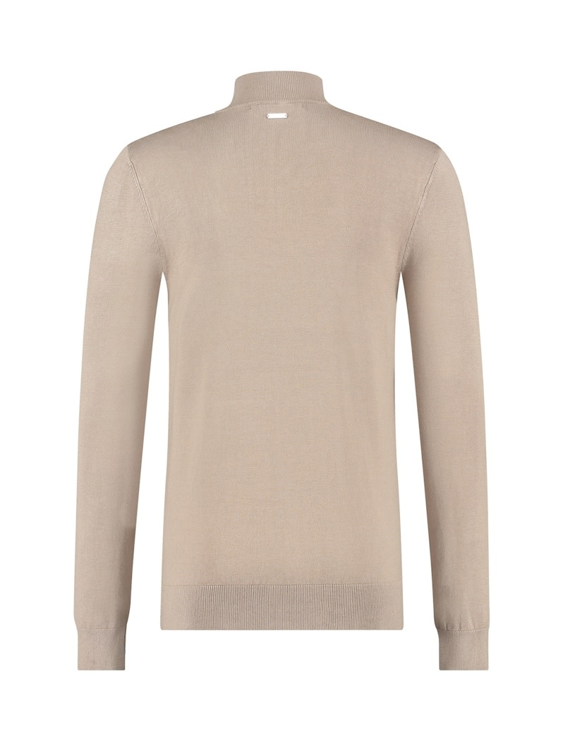 Pure White Pure White 20040801 Mockneck Knit Taupe