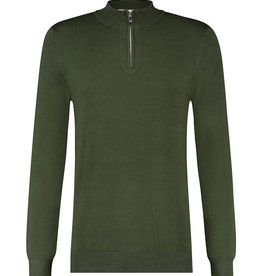 Purewhite Pure White Essential Half Zip Knit Army Green